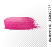 vector pink watercolor brush... | Shutterstock .eps vector #382687777