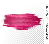 vector pink watercolor brush... | Shutterstock .eps vector #382687783