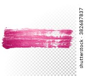 vector pink watercolor brush... | Shutterstock .eps vector #382687837
