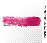 vector pink watercolor brush... | Shutterstock .eps vector #382687867