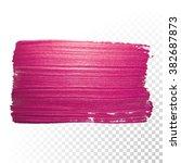 vector pink watercolor brush...   Shutterstock .eps vector #382687873