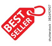 best seller tag. red color.... | Shutterstock .eps vector #382692907