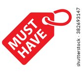 must have tag. red color.... | Shutterstock .eps vector #382693147