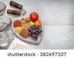 healthy lifestyle concept with... | Shutterstock . vector #382697107