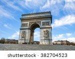 Arc De Triomphe Paris City At...