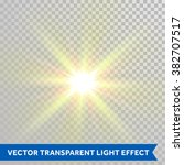 vector defocused shining sun... | Shutterstock .eps vector #382707517