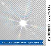 vector ray of sunlight. lens... | Shutterstock .eps vector #382707553