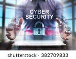 business man using modern... | Shutterstock . vector #382709833