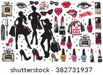 super big vector glamour... | Shutterstock .eps vector #382731937