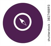 compass. vector icon purple