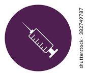 syringe. vector icon purple