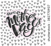 mothers day concept hand...   Shutterstock .eps vector #382770937