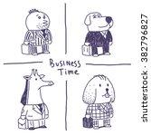 animal businessmen vector... | Shutterstock .eps vector #382796827