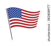united states flag waving... | Shutterstock .eps vector #382808977