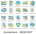 computer security and web... | Shutterstock .eps vector #382823437