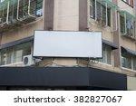 large blank billboard on a... | Shutterstock . vector #382827067