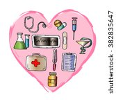medicine icon set    vector... | Shutterstock .eps vector #382835647