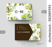 business card vector template... | Shutterstock .eps vector #382889593