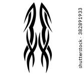 tribal tattoo vector design... | Shutterstock .eps vector #382891933