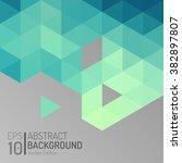 abstract polygon wallpaper... | Shutterstock .eps vector #382897807