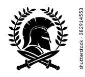 vector sign. spartan helmet. | Shutterstock .eps vector #382914553