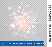 vector shimmering sparks of... | Shutterstock .eps vector #382923283