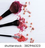 Makeup Tools With Powder On...