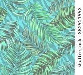 tropical vector pattern.  | Shutterstock .eps vector #382951993