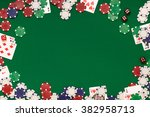 post blog social media poker.... | Shutterstock . vector #382958713