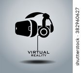 virtual reality headset icon ... | Shutterstock .eps vector #382960627