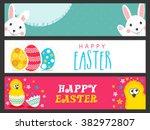 creative website header or... | Shutterstock .eps vector #382972807