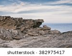 Rocky Cliffs At Mediterranean...