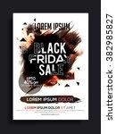 black friday sale banner  sale... | Shutterstock .eps vector #382985827