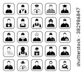 professions 25 icons set for... | Shutterstock .eps vector #382986847