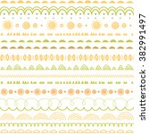 vector seamless olive green ... | Shutterstock .eps vector #382991497