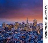 beautiful view of  business... | Shutterstock . vector #382996597