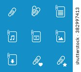paperclip file icon set. vector ...