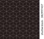 hexagonal grid design vector... | Shutterstock .eps vector #382997437