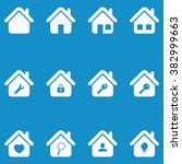 house icon set . vector... | Shutterstock .eps vector #382999663