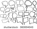 chat bubble  sketch | Shutterstock .eps vector #383004043