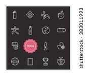 set of yoga vector illustration ... | Shutterstock .eps vector #383011993