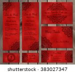 collection of ethnic cards menu ... | Shutterstock .eps vector #383027347