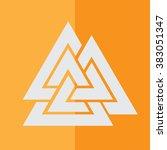 valknut icon | Shutterstock .eps vector #383051347