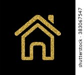 outline home page icon  gold...