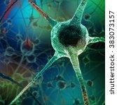 neurons abstract background.... | Shutterstock . vector #383073157