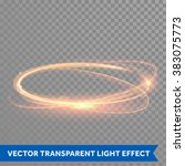 light effect gold vector circle.... | Shutterstock .eps vector #383075773