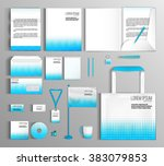 corporate identity template... | Shutterstock .eps vector #383079853