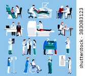medical care people fllat icons
