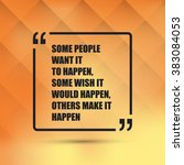 some people want it to happen.... | Shutterstock .eps vector #383084053