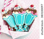 cookies with a retro ice cream... | Shutterstock . vector #383100097